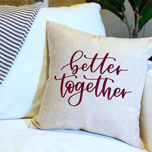 Create a Cozy DIY Pillow Cover with Color Chimp Flock Heat Transfer Vinyl and a FREE Hand-Lettered Cut File