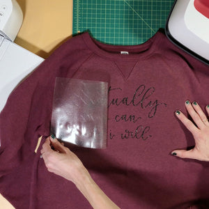 Craftey + Bossy Brushstrokes: DIY A Sweatshirt Using Color Chimp Glitter HTV + a FREE Cut File!