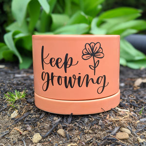 Keep Growing: DIY Fun Spring Planters with Oracal 651 Adhesive Vinyl {+ 2 FREE Cut Files}