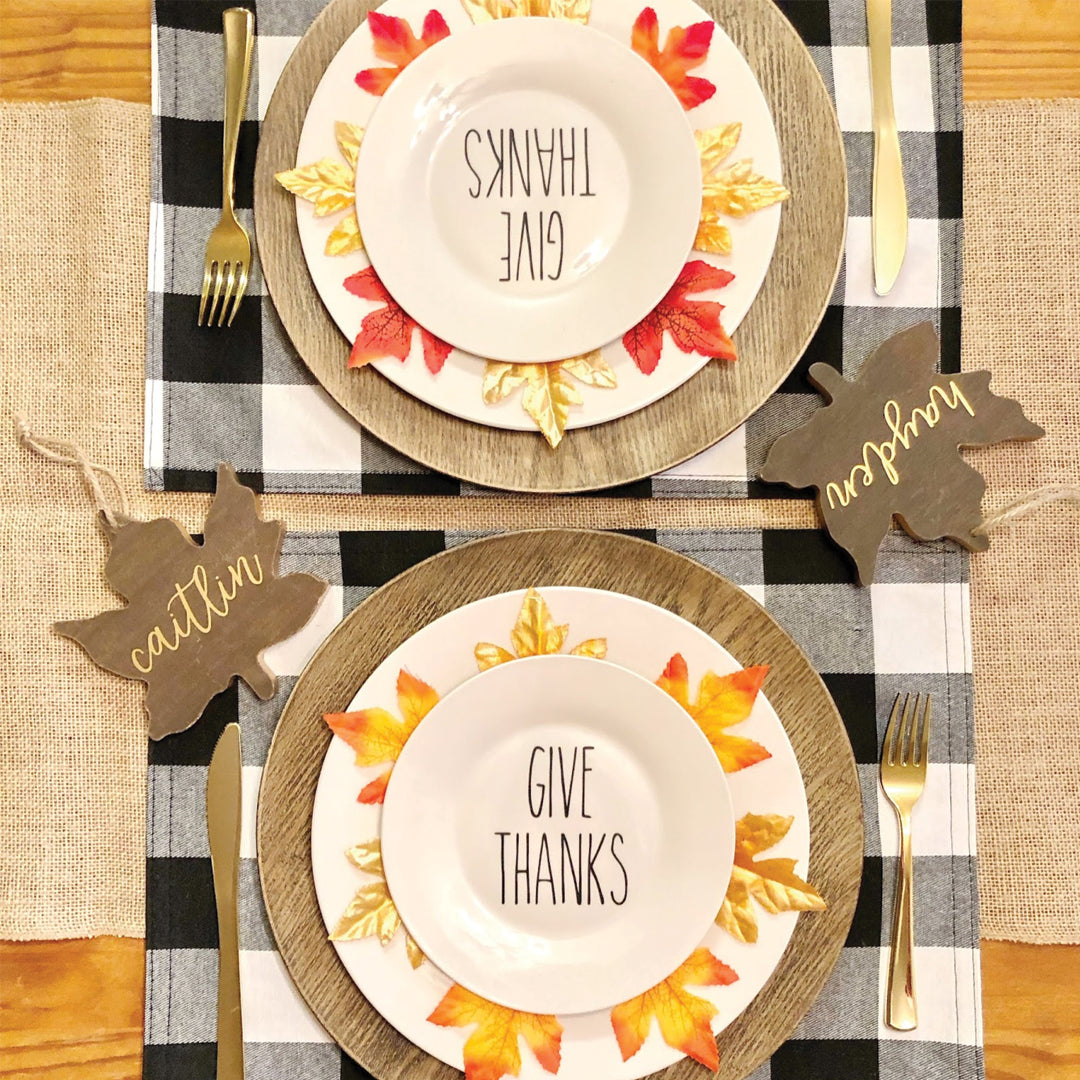 Create A Fall Tablescape Using Color Chimp HTV and Adhesive Vinyl