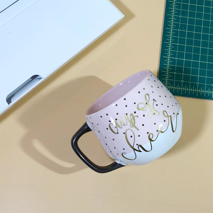 DIY A Cup of Cheer: Adding Adhesive Vinyl to a Mug