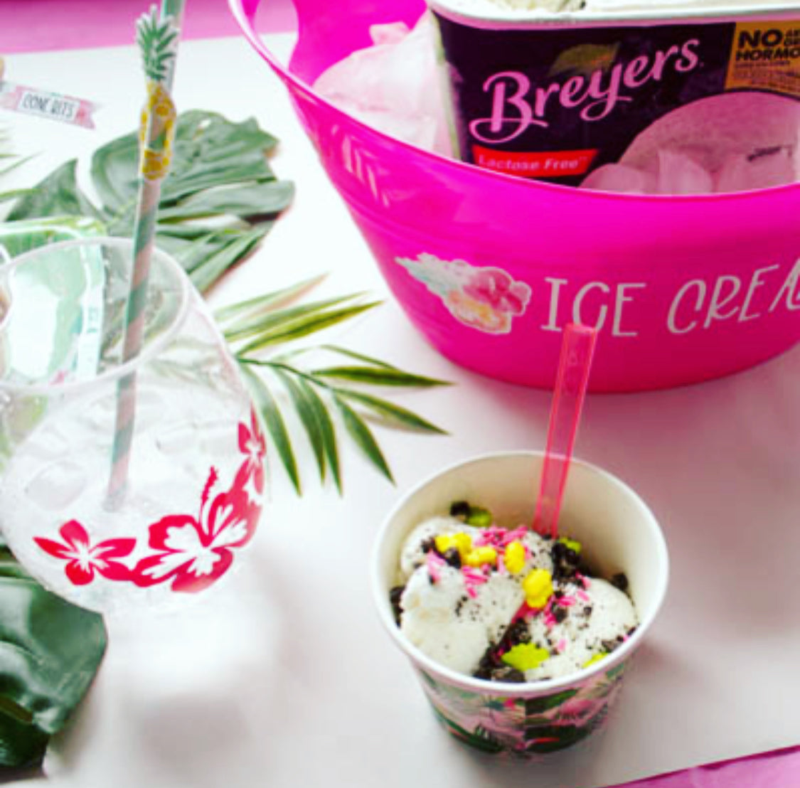 Throw A Tropical Ice Cream Party with Easy Vinyl Crafts