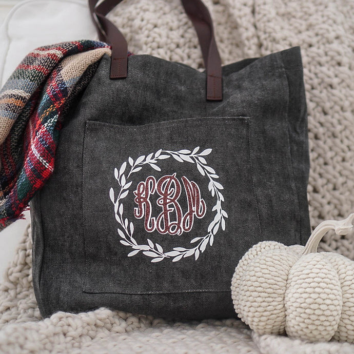 DIY Monogrammed Tote Bag with Color Chimp Glitter Heat Transfer Vinyl