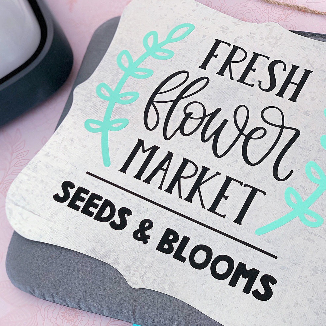 Create a Farmhouse Inspired Tin Plaque using Color Chimp Heat Transfer Vinyl