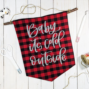 DIY Decor: Create a Banner using Color Chimp Glitter Heat Transfer Vinyl {+ a FREE cut file}