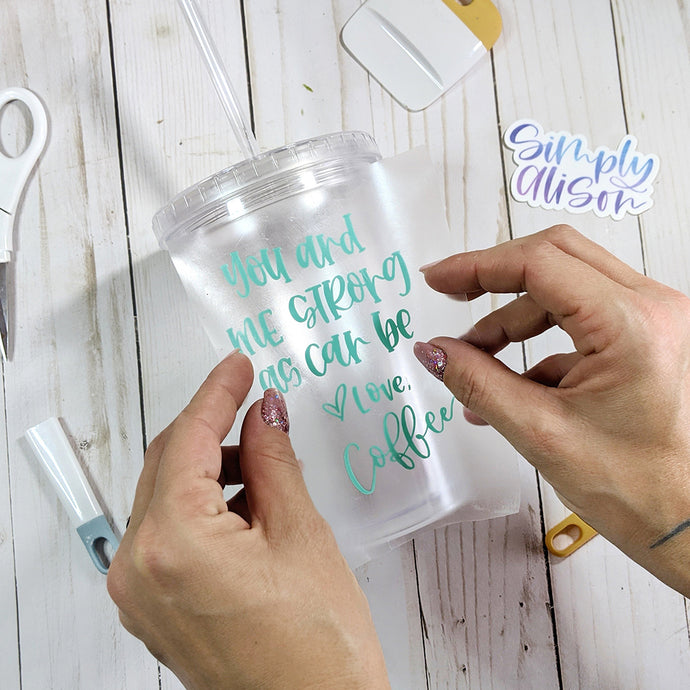 Coffee + A Free SVG: DIY A Custom Tumbler with Adhesive Vinyl