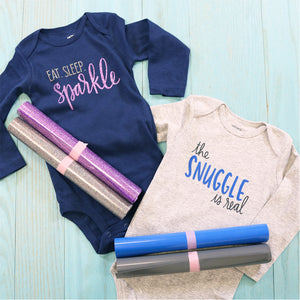 DIY Gift Idea: Create the Perfect Baby Gift with Color Chimp Flock and Color Chimp Glitter Heat Transfer Vinyl