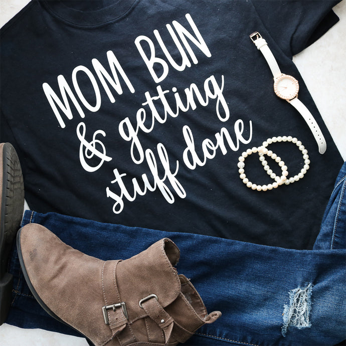 Make Your Own Mom Bun Shirt with Color Chimp HTV