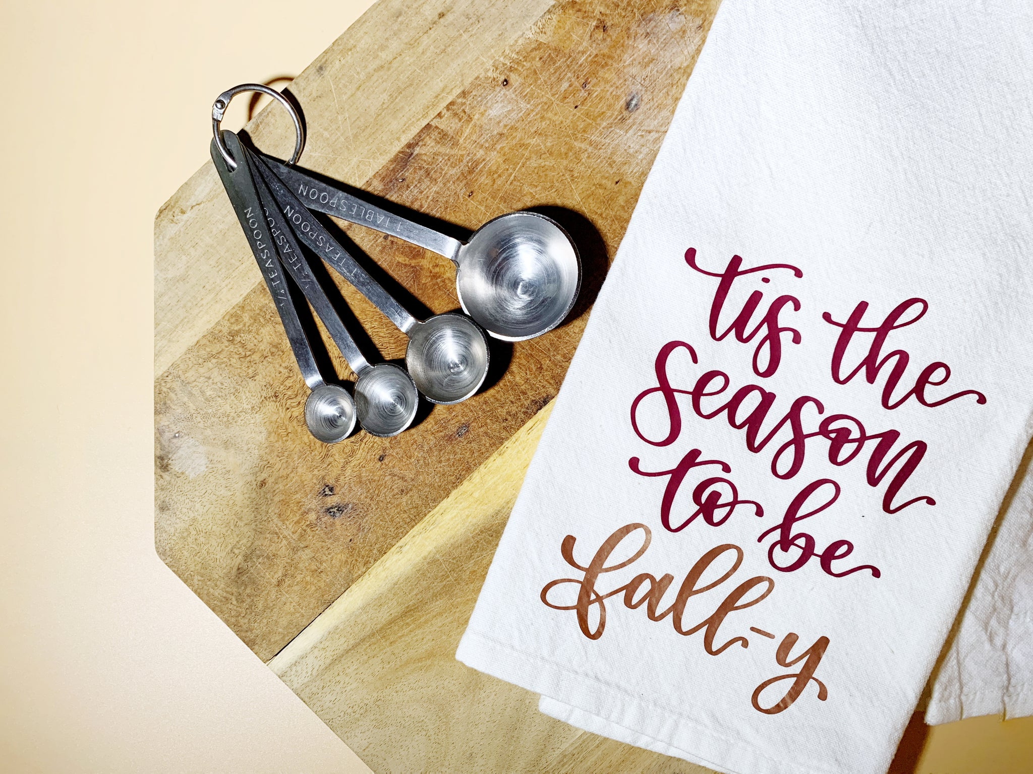Craftey + Bossy Brushstrokes: Tis The Season To Be Fall-y Tea Towel - Complete 2