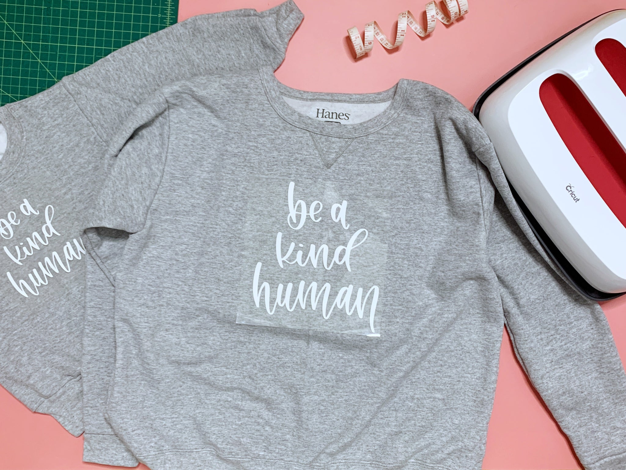 Craftey + Bossy Brushstrokes Color Chimp Luxe HTV Matching Mama + Mini Kindness Sweatshirts - Press