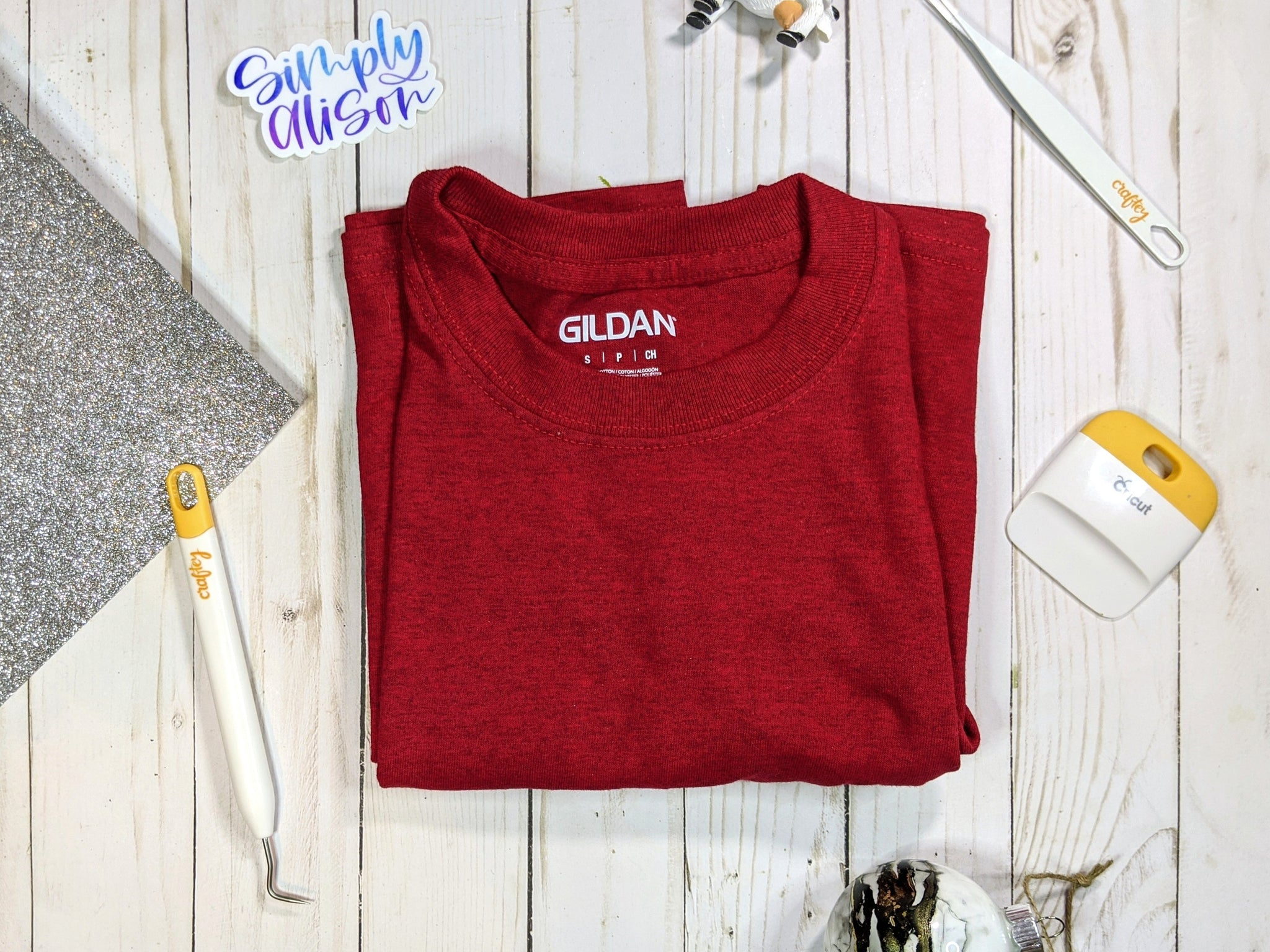 Craftey + Simply Alison DIY Color Chimp Glitter Tee Supplies 2