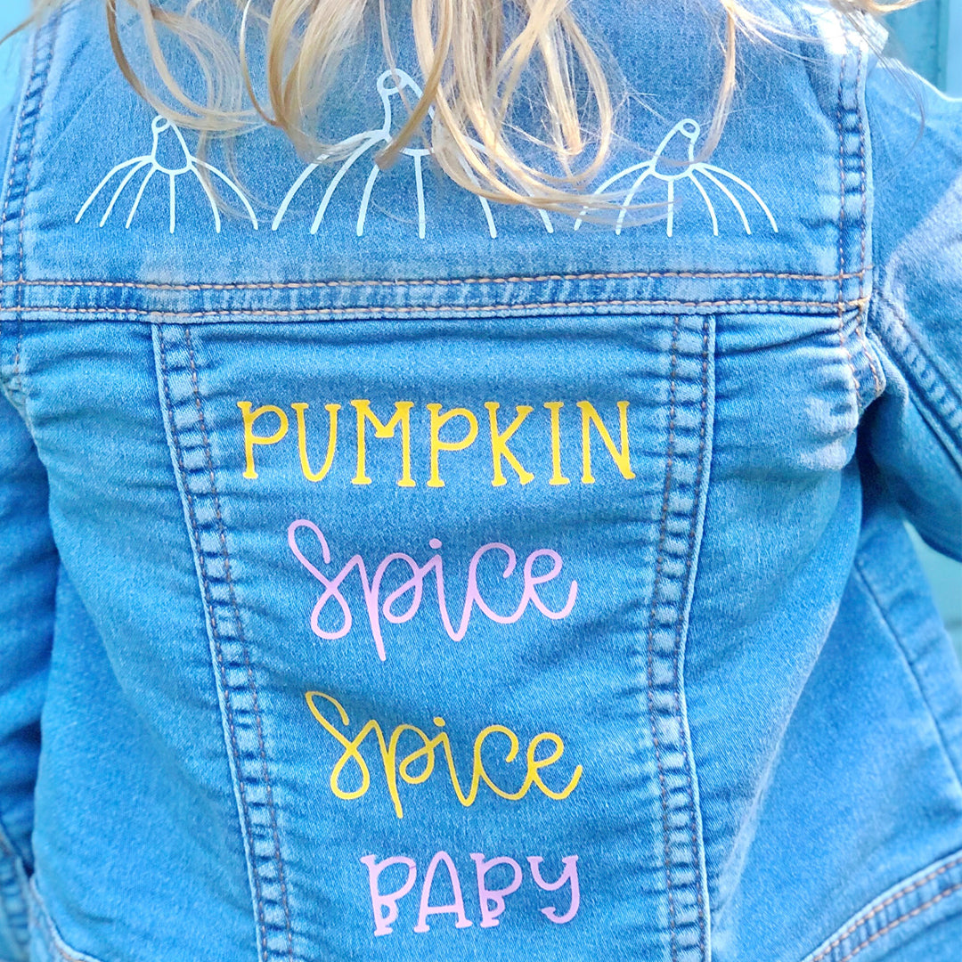 Craftey + The Mrs. Everything DIY Denim Jacket with Color Chimp Luxe Heat Transfer Vinyl Main