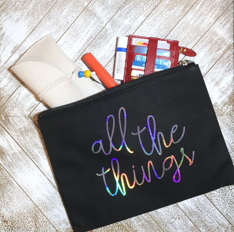 Create a custom pouch with heat transfer vinyl