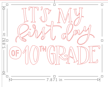 Craftey and the Mrs Everything First Day of School Sign Design 2
