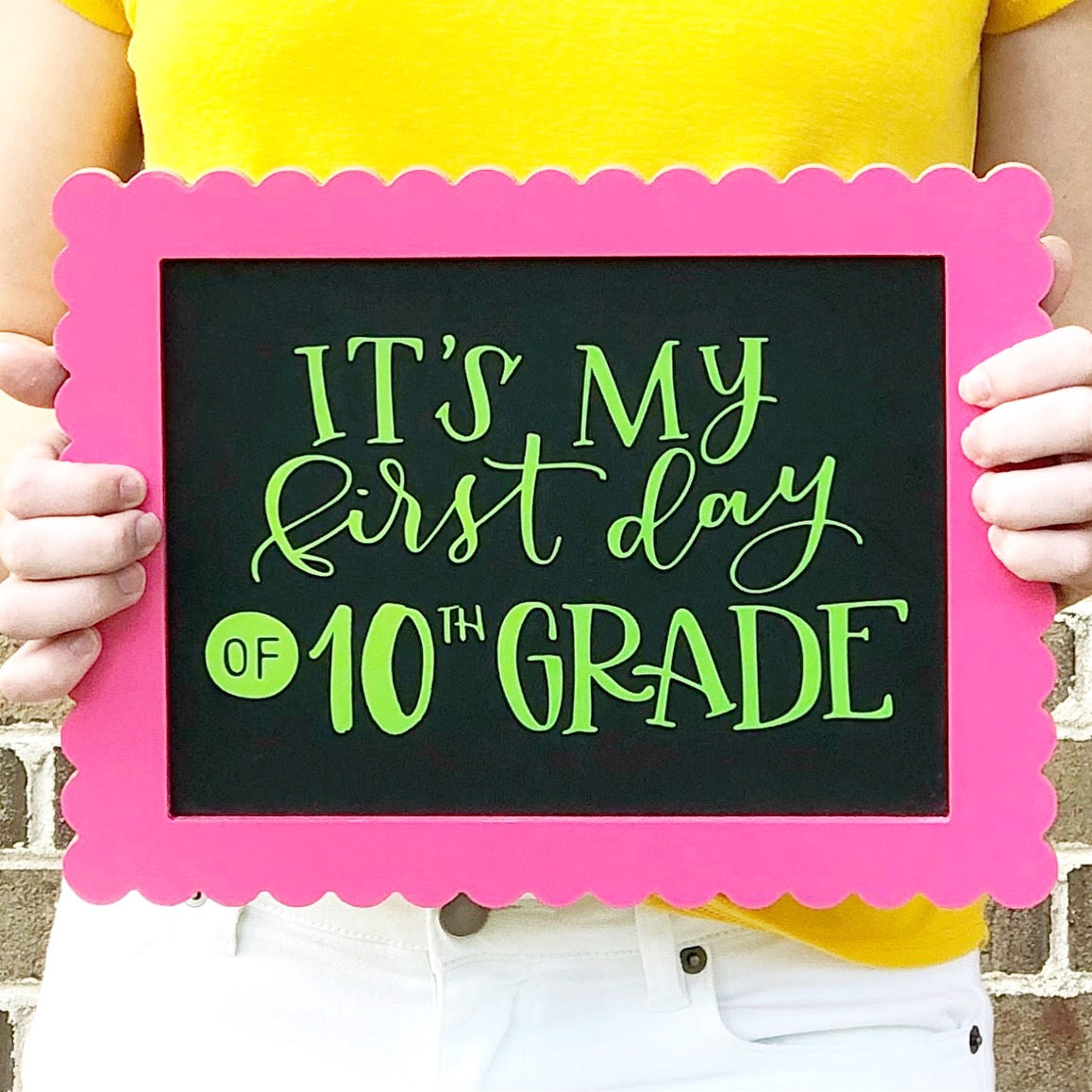 Craftey and the Mrs Everything First Day of School Sign