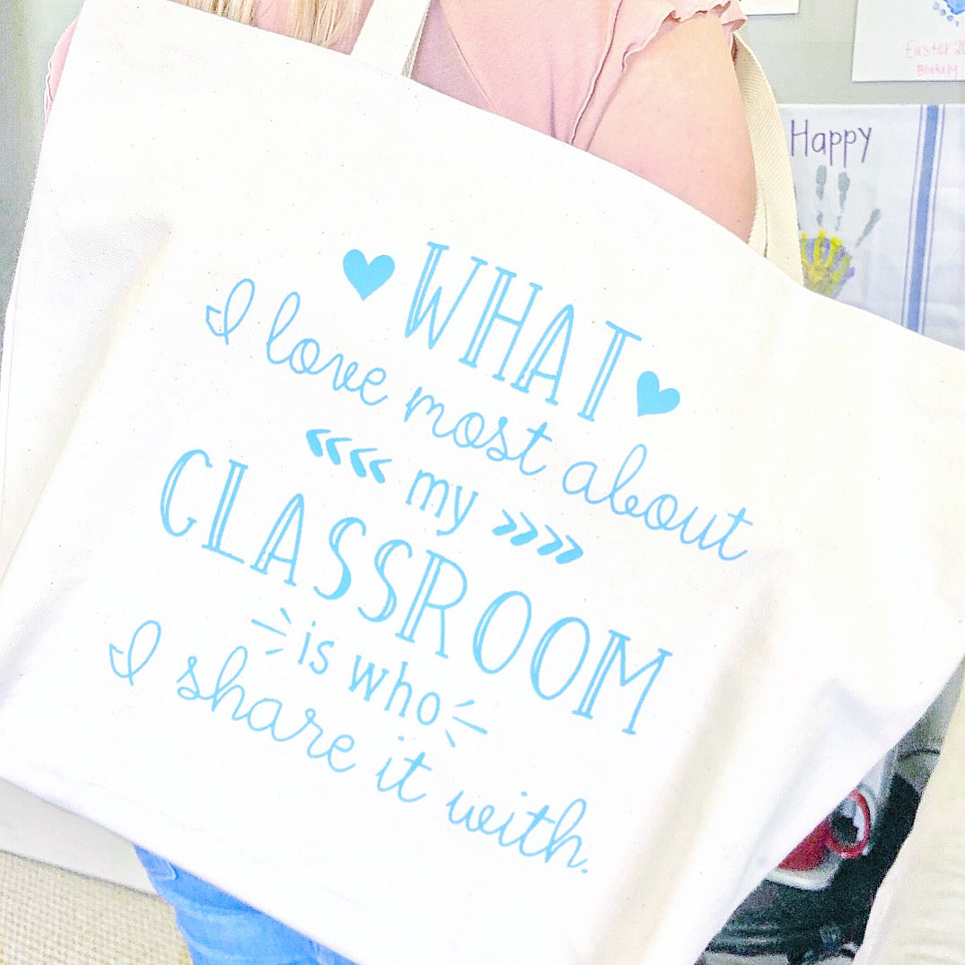 Craftey and The Mrs. Everything Vinyl Personalized Teacher Tote Bag Using Color Chimp HTV