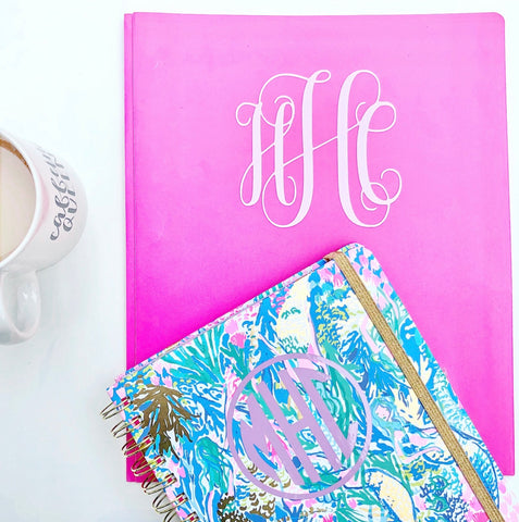 Craftey and The Mrs. Everything Vinyl Personalized Notebooks