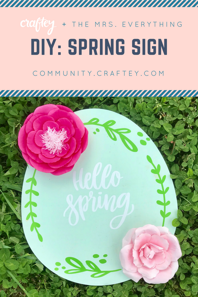 Hello Spring DIY sign