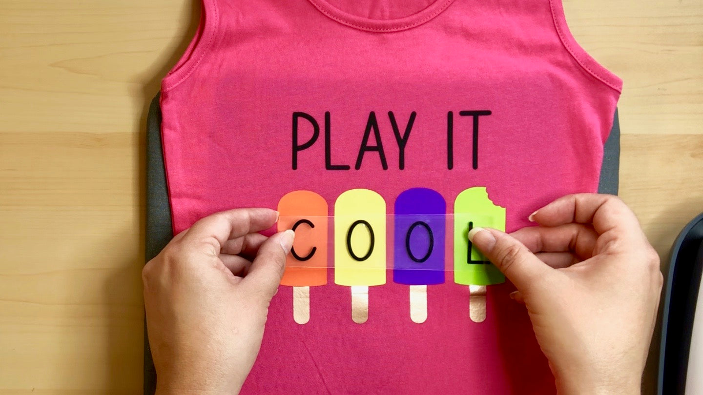 Craftey + Lovebird Heartworks Play it Cool Tank with Color Chimp HTV - Final Layer