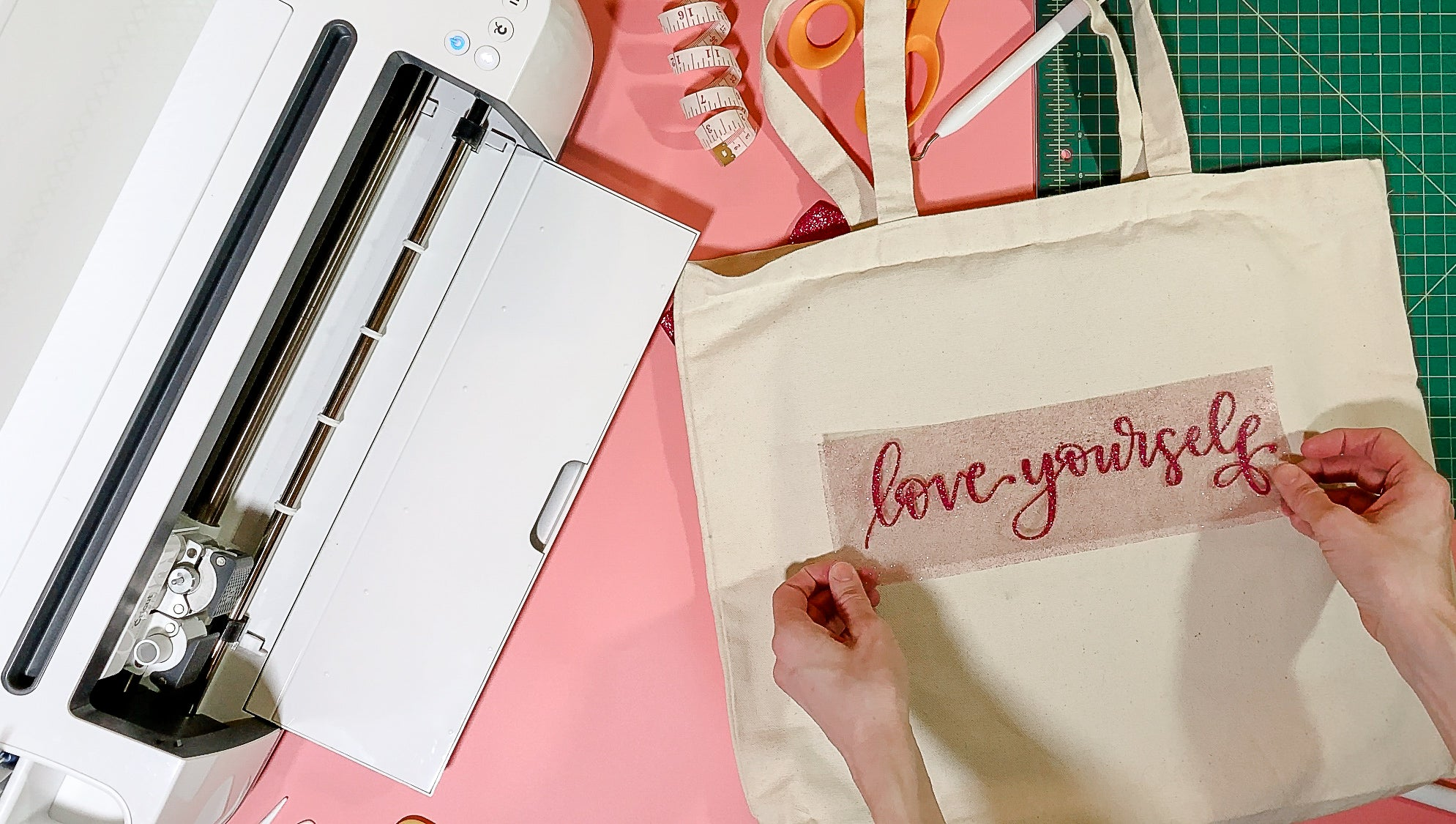 Craftey + Bossy Brushstrokes Love Yourself Tote Place Design