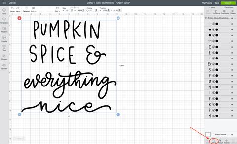 Craftey + Bossy Brushstrokes - Pumpkin Spice Design Space Weld