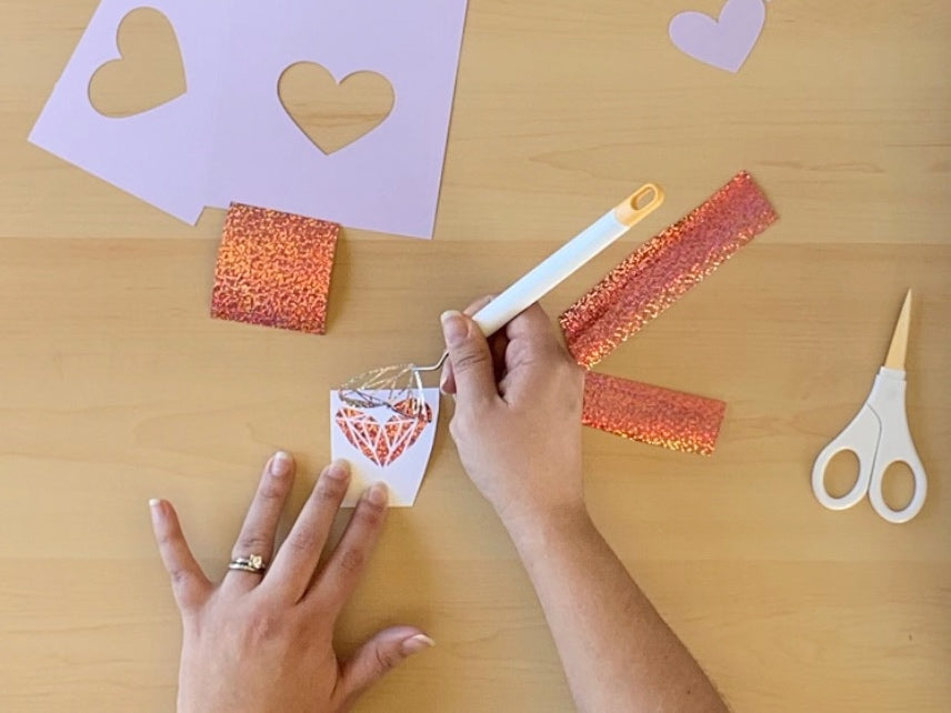 Craftey + Lovebird Heart Works - You're A Gem Craftey Specialty Adhesive Vinyl - Weeding