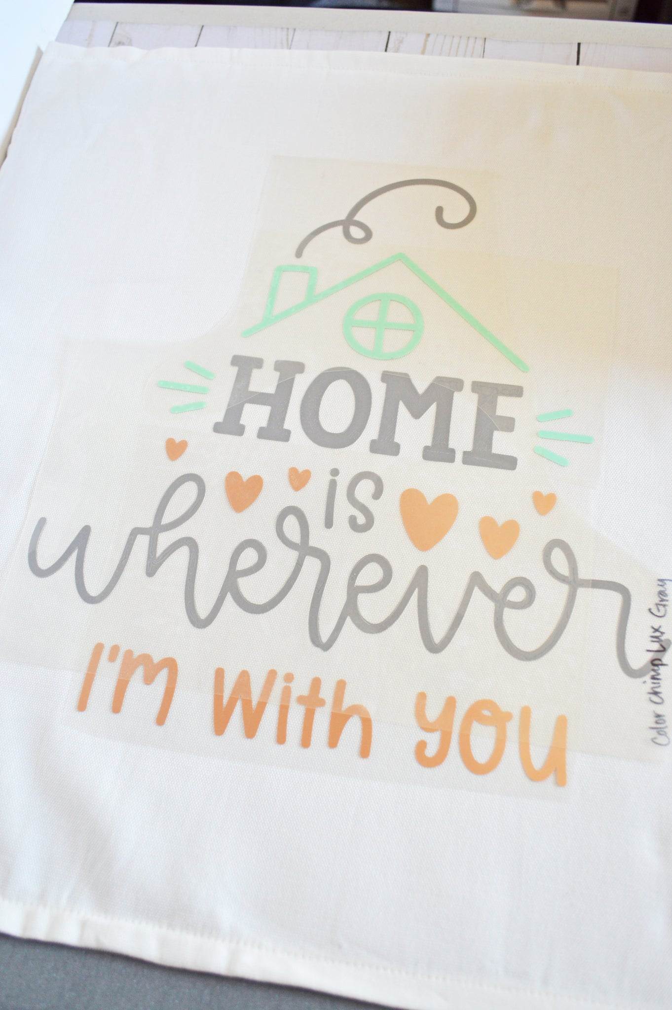 Craftey + The Happy Scraps Home is Wherever I'm with You Pillow -Cover