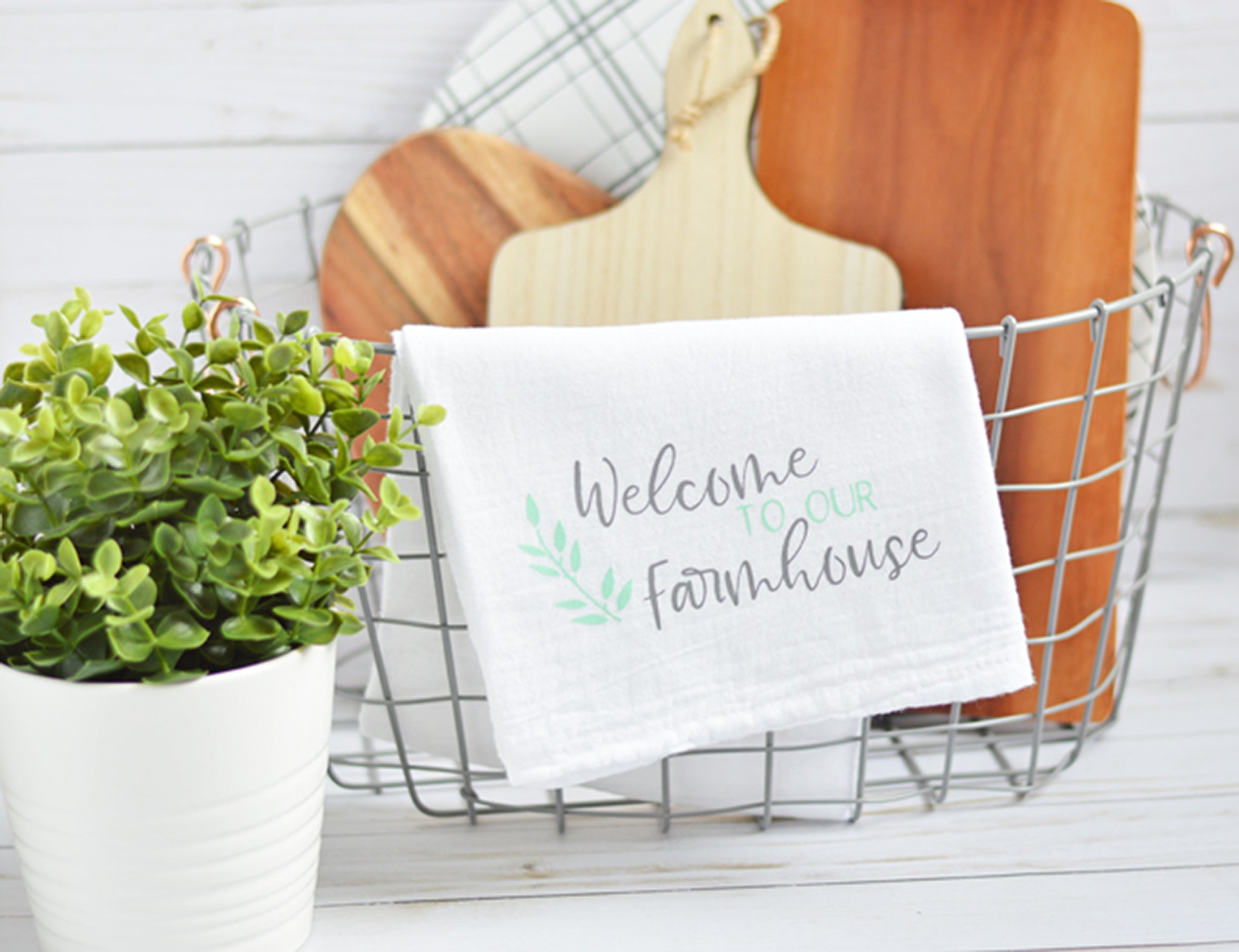 Craftey + The Happy Scraps Farmhouse Towel - Main