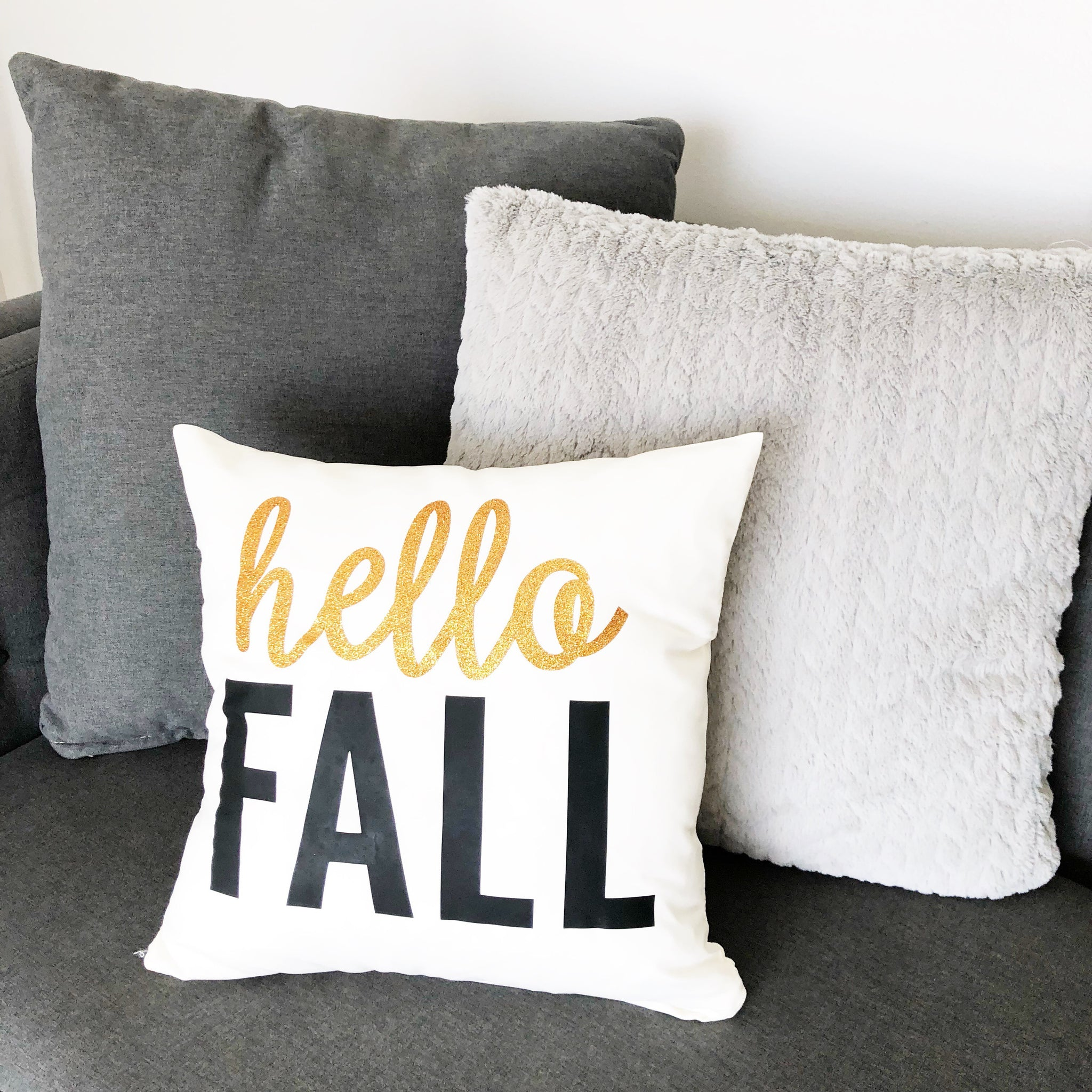 Craftey + Project Silhouette Fall Pillow Iron on main