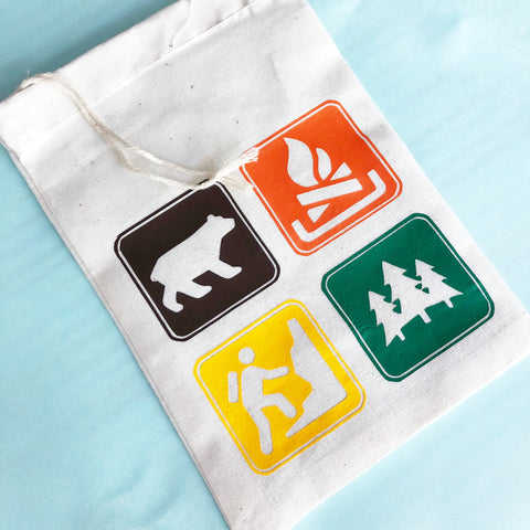 Camping Party Adhesive Vinyl Iron on heat transfer vinyl finished bag