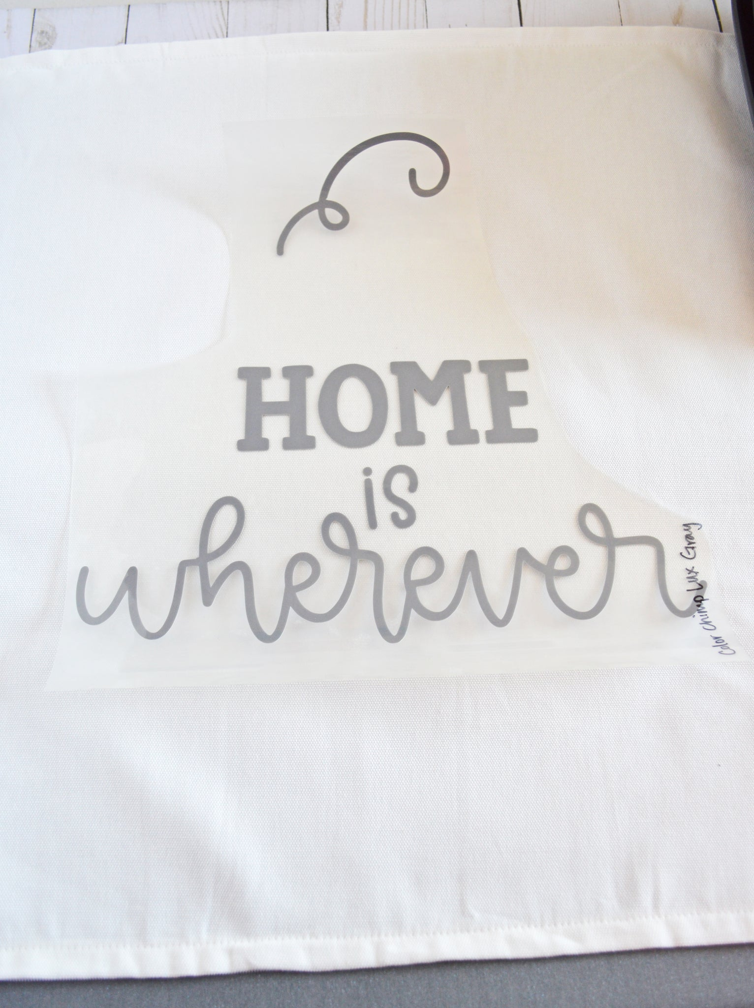 Craftey + The Happy Scraps Home is Wherever I'm with You Pillow - Layer 1