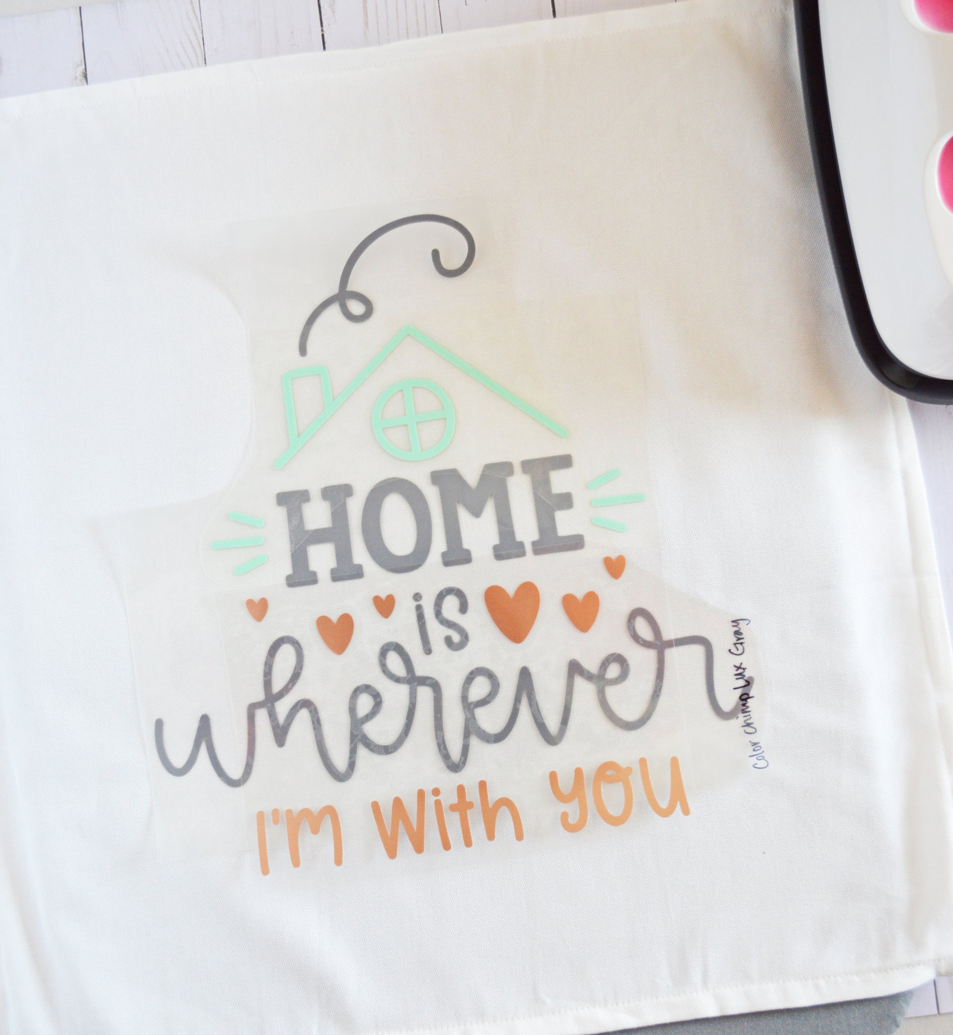 Craftey + The Happy Scraps Home is Wherever I'm with You Pillow -place