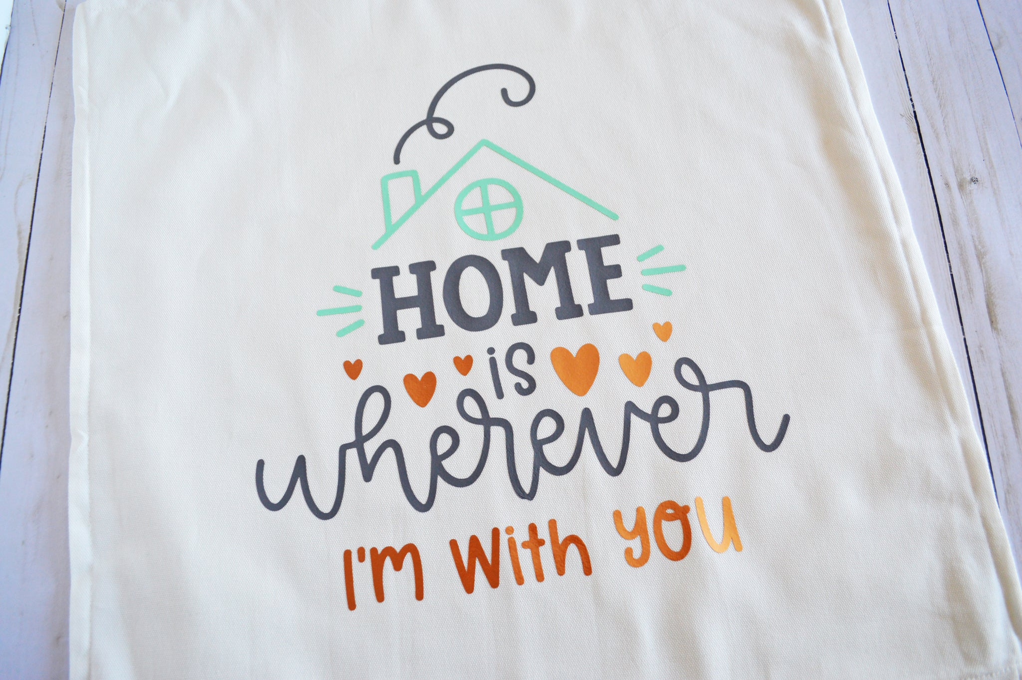 Craftey + The Happy Scraps Home is Wherever I'm with You Pillow - Peel 2