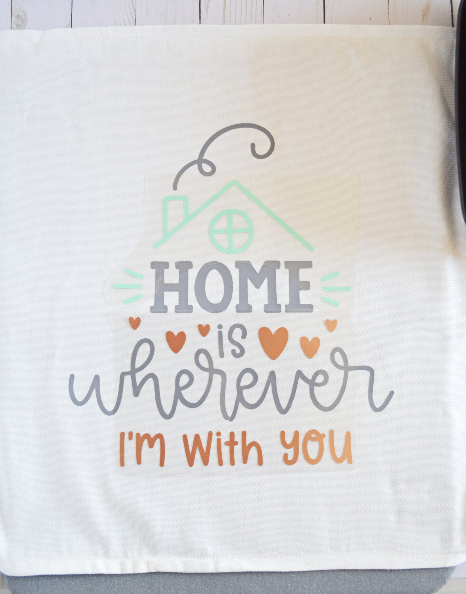 Craftey + The Happy Scraps Home is Wherever I'm with You Pillow - Remaining Layers