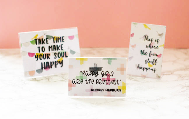Inspirational quotes DIY artwork complete project using vinyl