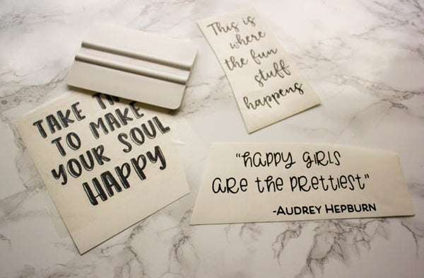 DIY Inspirational Quote Frames with Vinyl Silhouette 3 quotes