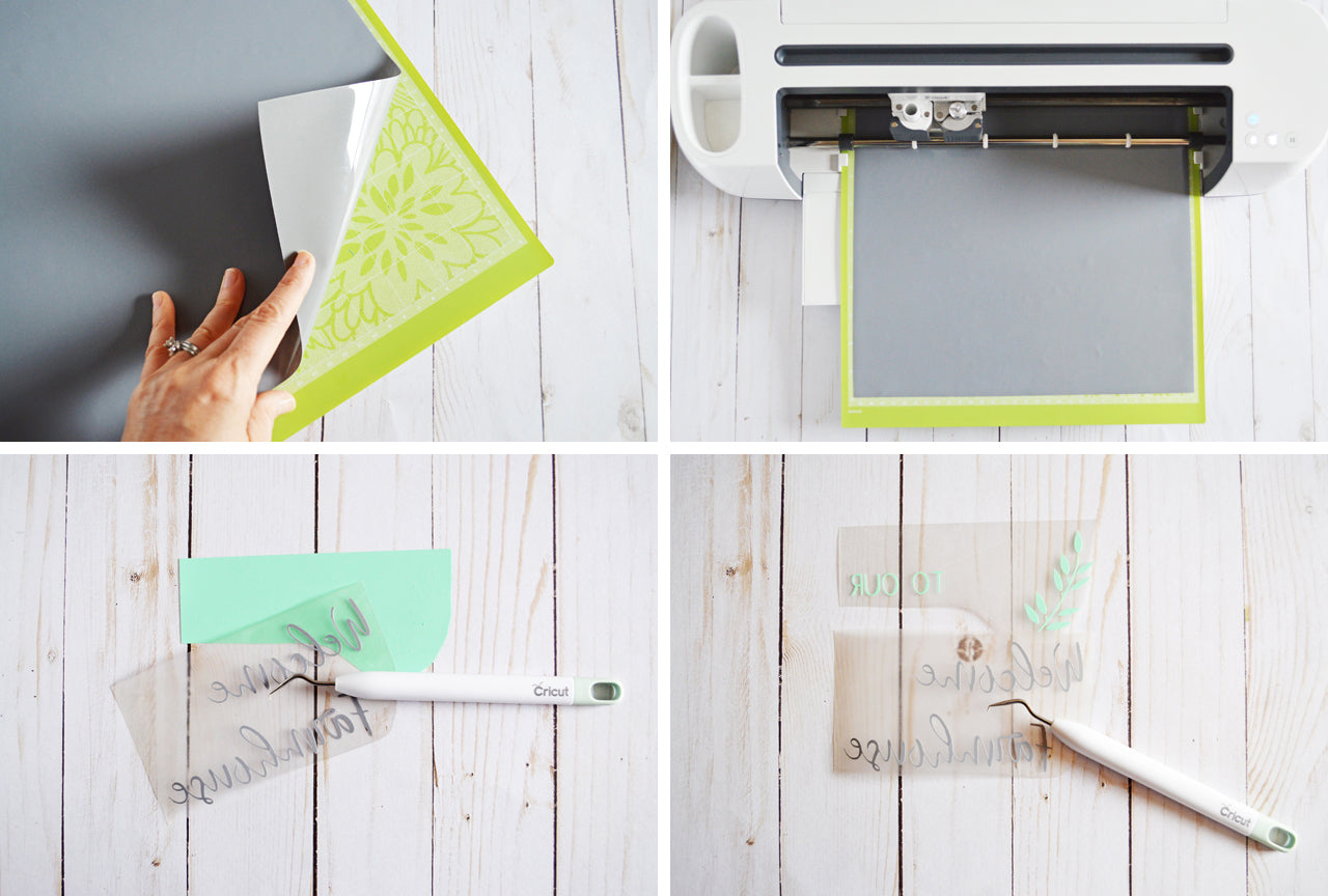 Craftey + The Happy Scraps Farmhouse Towel - Cutting and Weeding