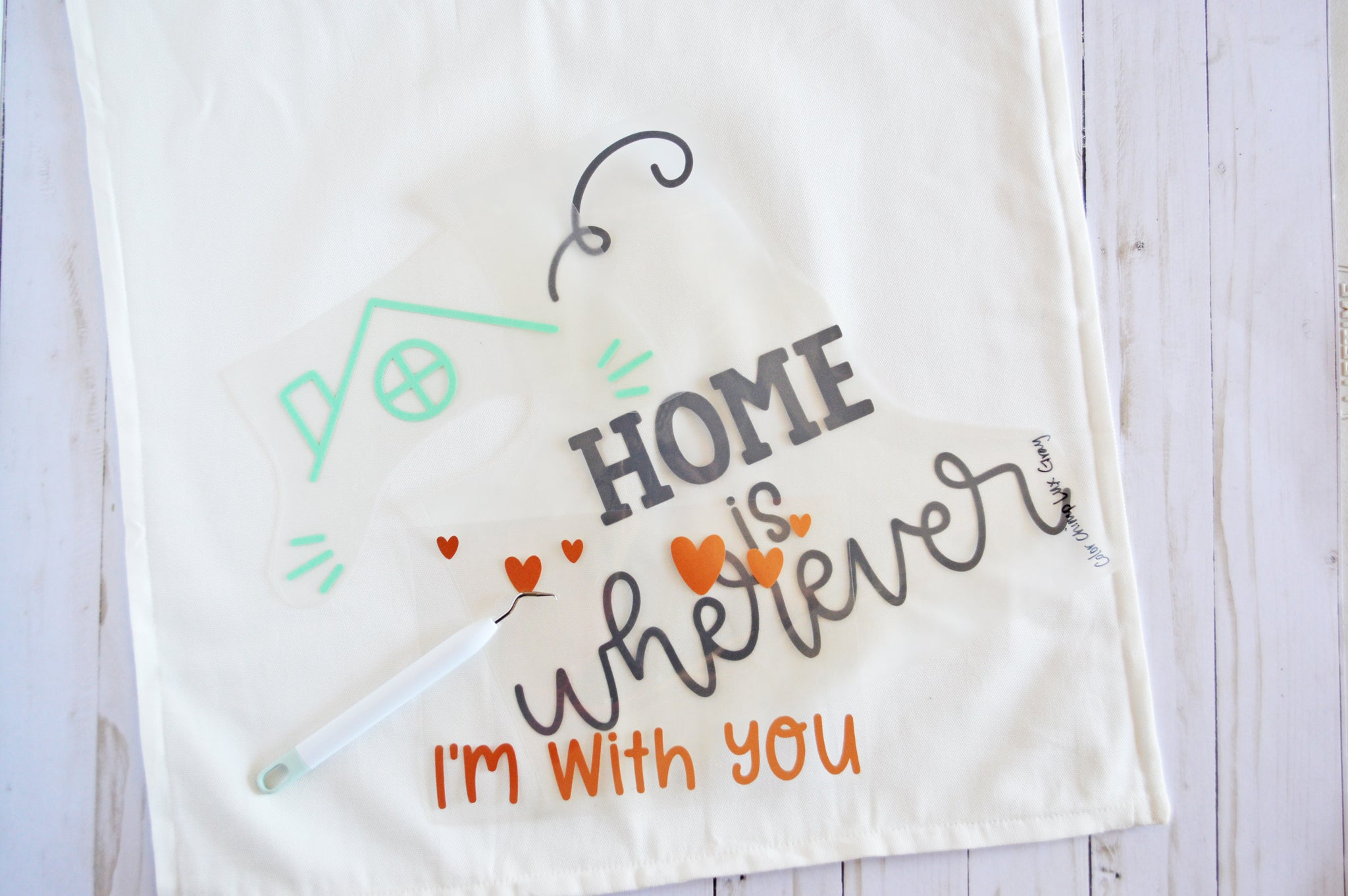 Craftey + The Happy Scraps Home is Wherever I'm with You Pillow - weeded