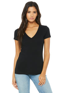 Bella + Canvas Women's Deep V-Neck Jersey Tee 6035, Size Small
