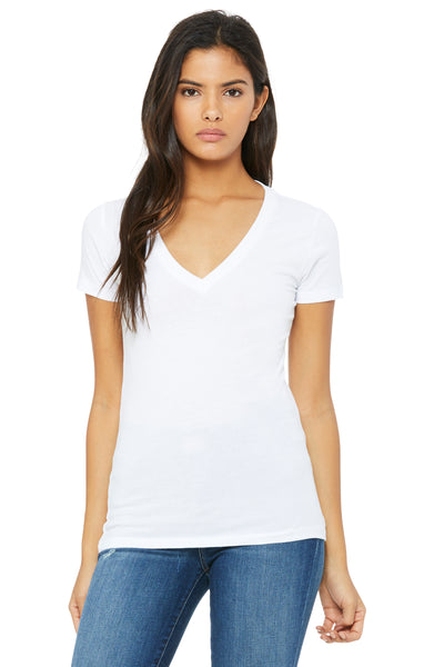 Bella + Canvas Women's Deep V-Neck Jersey Tee 6035, Size Medium