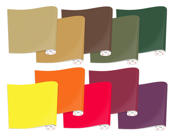 Heat Transfer Vinyl Fall Colors Bundle, 10 Sheets
