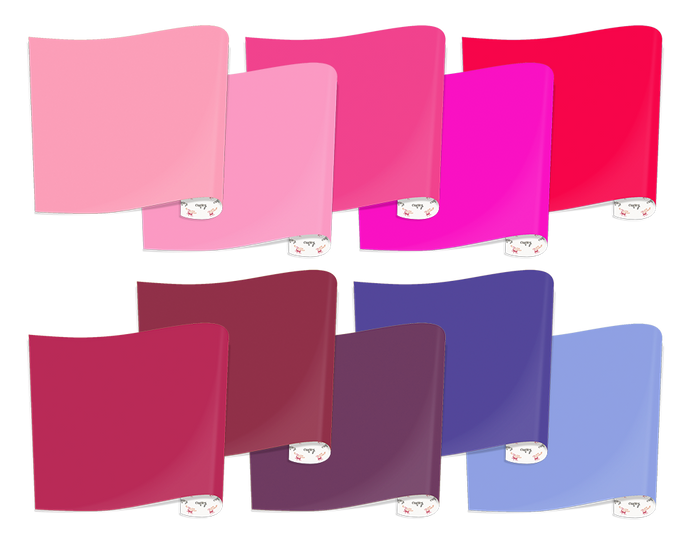 Heat Transfer Vinyl Purples and Pinks Bundle, 10 Sheets