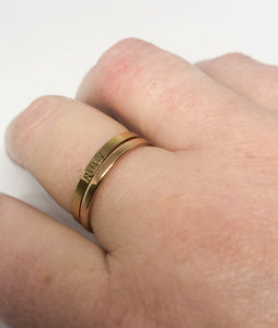 Rosegold band ring