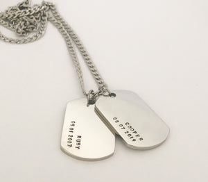 Detailed dogtag necklace