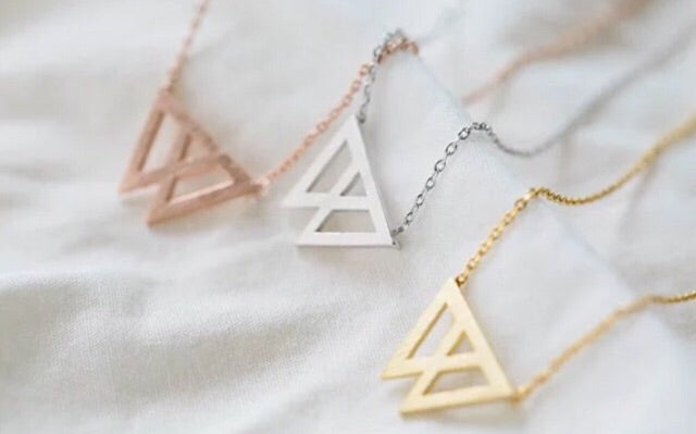 Triangle Overlap necklace
