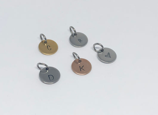 Individual Disc for Initial Necklace