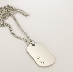 Initial dogtag necklace