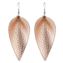 Faux Leather Dangle Earrings - sale