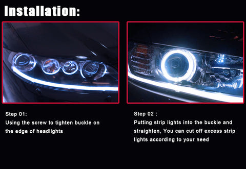 INSTALL OF LED HEADLIGHT STRIP