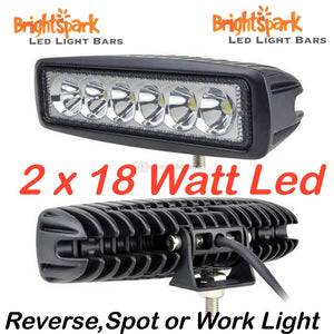 "2 x 18 Watt Rectangle 6"" Led Spotlights pair - BrightSparkLedCo"
